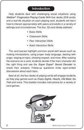 Webber Pragmatics Playing Flash Cards with Secret Decoder - Super Duper Educational Learning Toy for Children