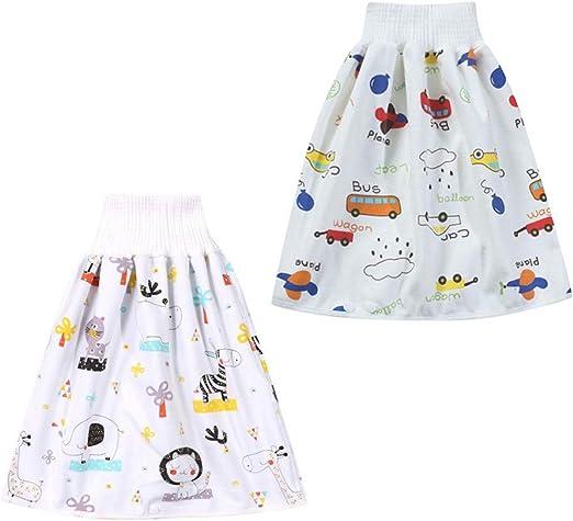 ZHAOXX 2 St/ück Baby Windelrock Bequeme Kinderwindelrock Shorts 2 in 1 wasserdichte und saugf/ähige Shorts Baumwolle Trainingshose mit Druckkn/öpfen f/ür 0-8 Jahre Kleinkind Baby Kleinkind