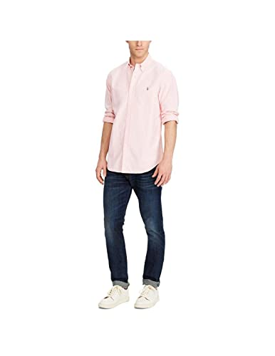 Camisa Polo Ralph Lauren Oxford Classic-Fit Rosa para Hombre S ...