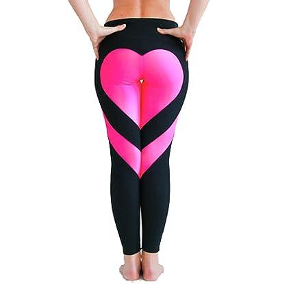 371caab9ba84a3 Amazon.com : HOUTBY Women's Heart Shaped Fitness Leggings Yoga Pants Sport  Running Pant Tight : Sports & Outdoors