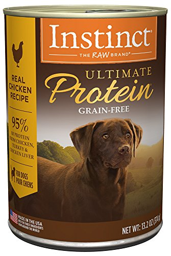 Instinct Ultimate Protein Grain Free Real Chicken Recipe Natural Wet Canned Dog Food by Nature's Variety, 13.2 oz. Cans (Case of 6)