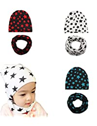 Baby Girls Knit Beanie Hats Toddler Star Caps Kids Cool Soft Hats for 3 Pack