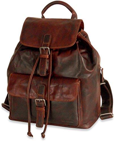 Jack Georges Voyager Drawstring Backpack - Brown by Jack Georges Leather (Image #1)