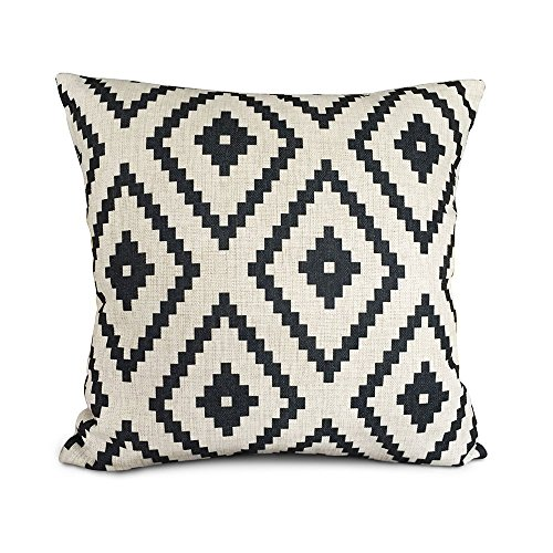 for inch pillow cover pillowcase slp cotton sofa pillows x style decorative vintage com womhope amazon cushion colorfull case linen stripe square throw pack