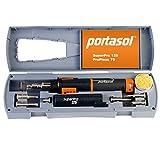 "Portasol 010589330 Super Pro 125W Heat Tool Kit with 7 Tips, 12"", Gray/Orange"