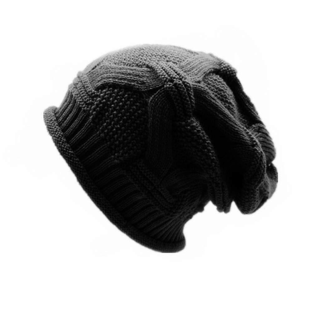 ALIKEEY Hombres Mujeres Holgada Caliente Crochet Invierno Lana Tejer Esquí Beanie Cráneo Slouchy Ca Gris Marron Premium Carlista Paracaidista Chica Campana: ...