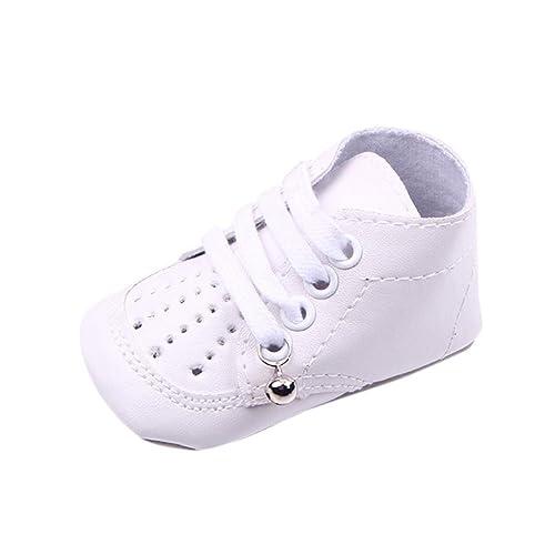 35f08fefa0510 Amazon.com | Voberry New Classic Baby Boy Girl Bell Crib Shoes Soft ...