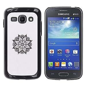 iKiki Tech / Estuche rígido - Art Black White Spiritual - Samsung Galaxy Ace 3 GT-S7270 GT-S7275 GT-S7272