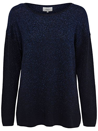 Donna L Only Blue Onlpatricia Pullover Knt s Felpa Hq8qYw