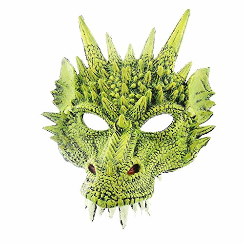 Toothless Dragon Costumes (Supersoft Fierce Dragon Mask (Green))