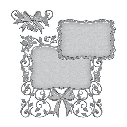 (Spellbinders S6-042 Holly Frame Nestabilities Decorative Accent)