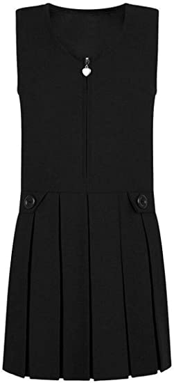Ages 4-13 Ex Chainstore Girls School Pinafore 3 Pleat with Drop Waistband