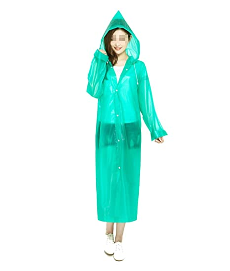 f12e2bb7e Amazon.com: Rain Suit Waterproof Set Raincoat Outdoor Riding Fishing Travel  Raincoat Adult Hiking Men and Women Long Transparent Poncho Lightweight  Rain ...