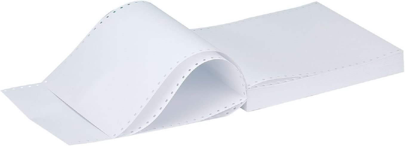 Q Connect KF50032 11 inch X241mm 2 Part NCR Plain Listing Paper Pack of 1000
