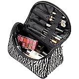 Demarkt Trousse de Maquillage,Maquillage Cas Cosmétique Sac de Toilette Zebra Voyage Sac Organisateur