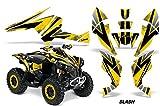 AMR Racing Graphics Can-Am Renegade 800 XR All Years ATV Vinyl Wrap Kit - Slash Black Yellow