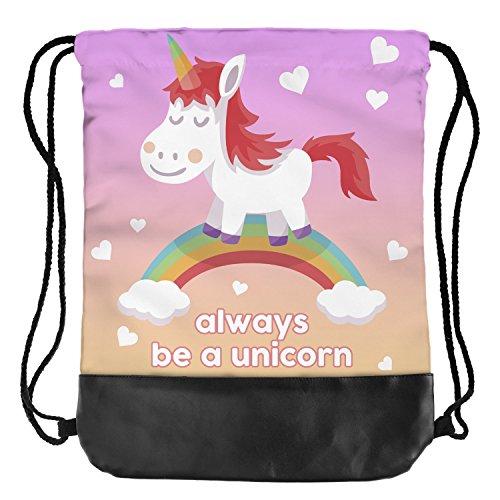 Fringoo® Tasche mit Korderlzug für Herren / Damen / Jungen / Mädchen Always Be A Unicorn ty58Jtn