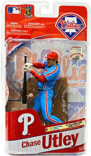 McFarlane Toys MLB Sports Picks Series 27 Action Figure Chase Utley (Philadelphia Phillies) Powder Blue Uniform Bronze Collector Level Chase by Unknown