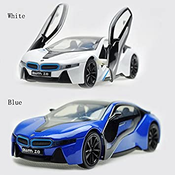 Amazon Com 1 32 Bmw I8 White Alloy Diecast Car Model Collection