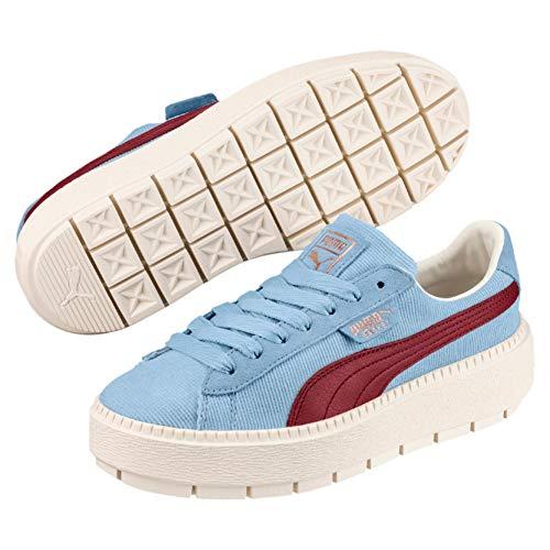 Platform Cerulean Azul Mujer Zapatillas Trace Corduroy Puma TCBwqp