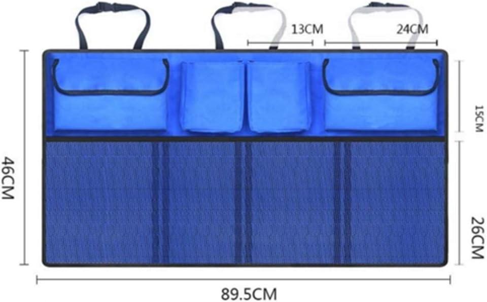 YOBAIH Auto Car Organizer Trunk Back Seat Universal Storage Bag Mesh Net Pocket Bag Car Seat Organiser Color Name : Blue