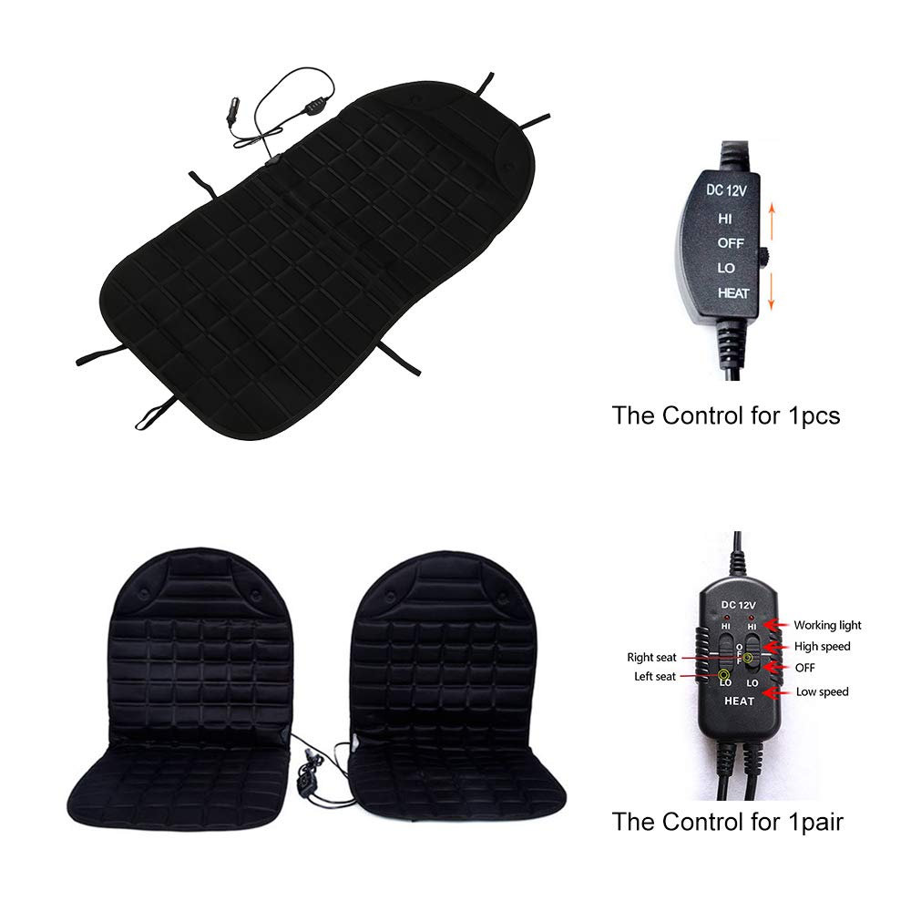 supercobe 12V Heated Car Seat Cushion Winter Auto Cushion Seat Cover Heated Seat Cushion one, Gray