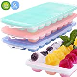 Ice Cube Trays, 3 Packs Food Grade Flexible Silicone Ice Cube Molds Tray with Lids, Easy Release Ice Trays Make 63 Ice Cube, Stackable Durable and Dishwasher Microwave Safe