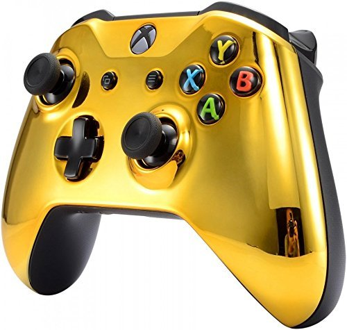 Xbox One S Wireless Custom Un-Modded Controller for Microsoft Xbox One (Chrome Gold)