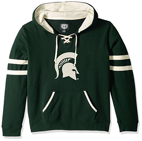 (NCAA Michigan State Spartans Women's Ots Grant Lace Up Pullover Hood, Small, Dark Green)