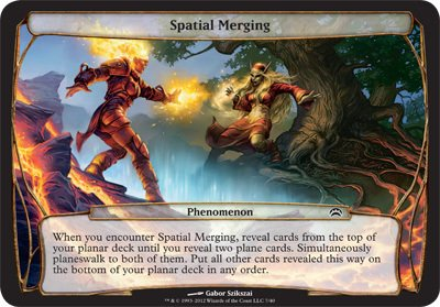 Magic: the Gathering - Spatial Merging - Planechase 2012 Oversized Cards