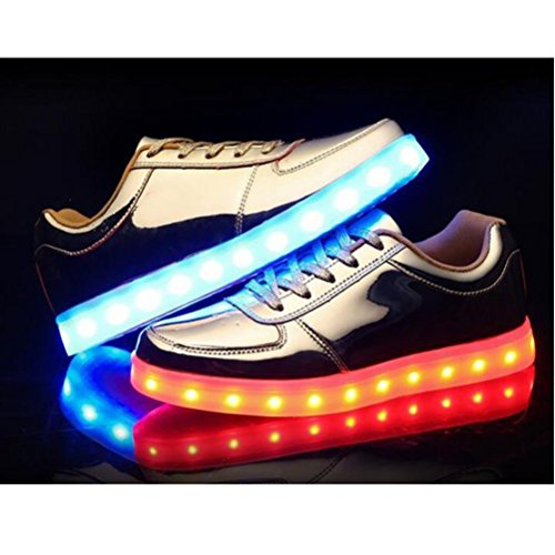 [+Small towel]Childrens shoes USB charging emitting light boys shoes girls shoes luminous LED lighted sports shoes big boy shoes style c44 Mr8OYqlNX
