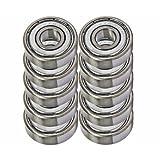 10 Shielded Bearing R8ZZ 1/2 x 1 1/8 x 5/16 inch Ball Bearings