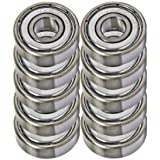 10 Shielded Bearing R8ZZ 1/2 x 1 1/8 x 5/16 inch Ball Bearings