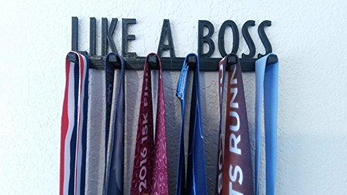 Like A Boss Running Marathon Sports Medal Display Rack Hanger Holder Organizer Wrestling Gymnastics Swimming Baseball Soccer ()