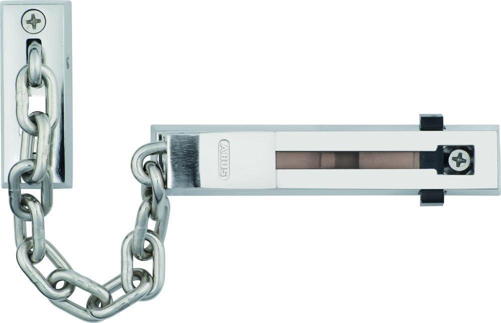 ABUS 13577 - Cadena para puerta con cerrojo (SK66 SB), color níquel