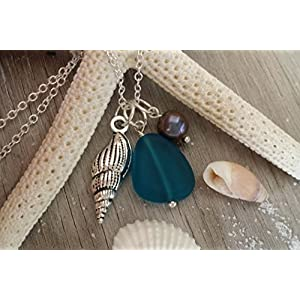 world-of-handmade-teal-blue-sea-glass-necklace