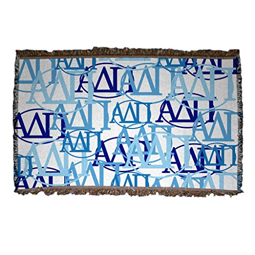 Greek Afghan Throw Blanket - VictoryStore Blanket - Alpha Delta Pi Woven Blanket