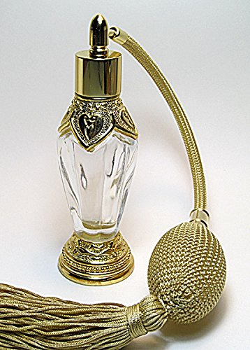 Alice-Aliya Antique refillable Perfume Atomizer Empty Bottle with Gold Squeeze Bulb and Tassel Spray mounting. by Alice-Aliya (Image #2)