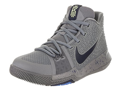 NIKE Kyrie 3 G.S Big Kids Youth Cool Grey/Black/Anthracite/Polarized Blue 859466-001 (5 Big Kid)