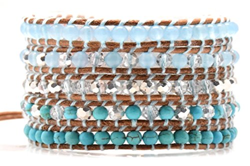 turquoise-mix-wrap-bracelet-on-natural-brown-leather-4-mm-beads-5-multilayer