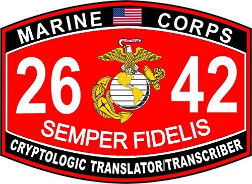 USMC MOS 2642 Cryptologic Translator/Transcriber Decal 10'