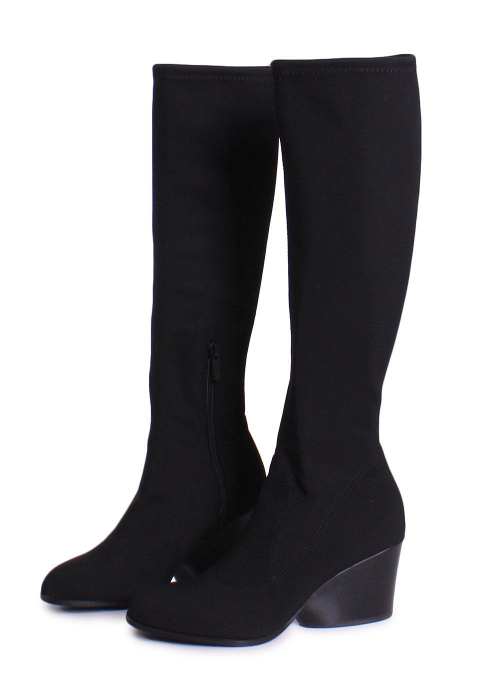 Donald J Pliner Patsy Crepe Elastic Knee High Boots in Black Size 7.5