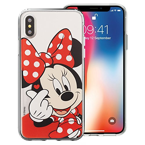 iPhone Xs Max Case Disney Cute Soft Jelly Cover for [ Apple iPhone Xs Max (6.5inch) ] Case - Heart Minnie Mouse