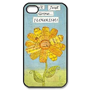 Customized Inspirational quotes Cell Phone Case for Iphone 4,4S with Do not just grow flourish yxuan_3481375 at xuanz hjbrhga1544