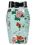 Belle Poque Women's Elegant Retro Floral Printed Pencil Skirt Size S KK610-6