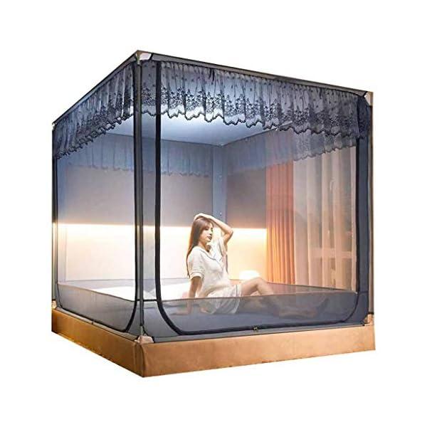 Shuang Mosquito Net Home Estate, 3 Elementi, Yurta zanzariera, 1,5 m-2m anticaduta Bambino Completamente Chiusa Anti… 1 spesavip