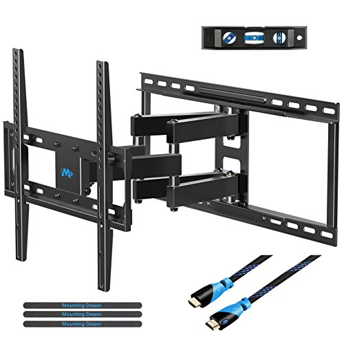 Mounting Dream MD2380-24 TV Wall Mount Bracket with Full Motion Articulating Arms for most 26-55'' LED, LCD, OLED and Plasma TVs up to VESA 400 x 400mm and 99 lbs. Fits 16'', 18'', 24'' wood studs by Mounting Dream