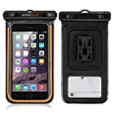 Waterproof Case, Sahara Sailor Waterproof Phone Case Dry Bag Bike Phone Mount Fluorescent Strip for iPhone 7 6 6S Plus Samsung Galaxy S7 S6 S5 Note 5 4 Touchscreen Transparent
