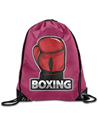 Drawstring Bags Gym Bag Travel Backpack, Boxing Red White Black, Gym Equipment Backpacks For Boys Girls