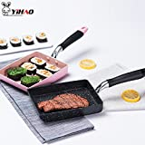 Fiesta YIHAO Nonstick pan Maifan Stone Non-Stick Japanese Frying pan Melaleuca Frying pan Electric Gas Universal: 35CM, Pink